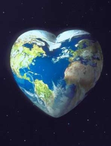 earth in shape of heart